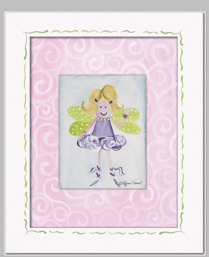 Fairy Blonde Framed Canvas Wall Art