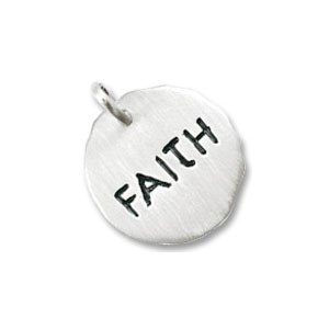 Faith Tag Charm by Forever Charms - Personalized