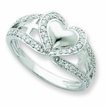 Faithful Heart Silver Ring