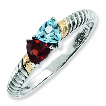 Family Love Antiqued Birthstone Ring