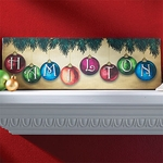 Family Name Ornament Canvas