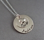 Family Stacking Charms Sterling Silver Necklace - click to Enlarge