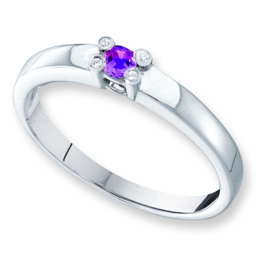 Family Togetherness Birthstone and Diamond Ring - with Genuine Stones