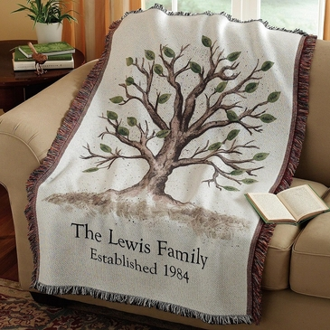 Family Tree Throw with Names