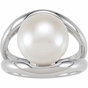 Fancy Sterling silver pearl ring - click to Enlarge