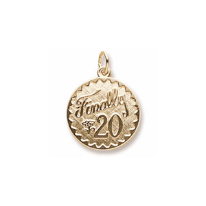 Finally 20 Charm by Forever Charms - Personalized
