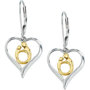 Forever my Heart Mother and Child Earrings