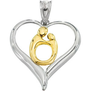 Forever my Heart Mother & Child Pendant