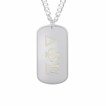 Fraternity Dog Tag Necklace