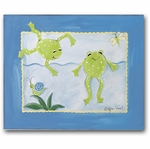 Freddy Frog - Frogs Swimming Canvas Wall Art