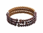 Freshwater copper bracelet with leather cuffs - click to Enlarge
