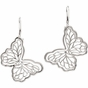 Freshwater Cultured Polished Butterfly Earrings - click to Enlarge