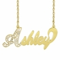 """Full of Sparkle"" Diamond Name Necklace - click to Enlarge"