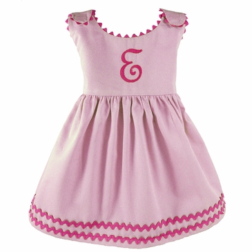 Garden Princess Dress in Orchid with Camellia Trim