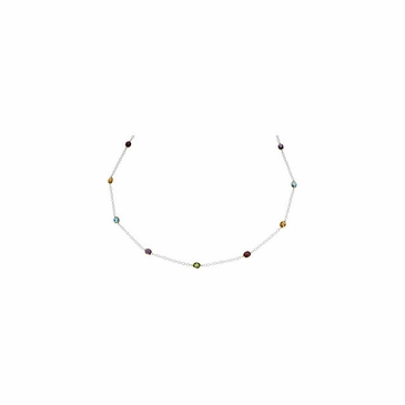 Glorious Charm Multicolor gemstone necklace