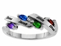 Gold Graceful Family  Birthstone Ring - click to Enlarge