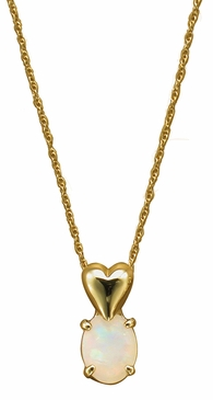 Gold Heart and Birthstone Necklace