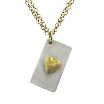 Gold Heart Locket Necklace