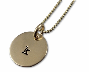 Gold Initial Name Charm Necklace