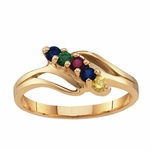 Gold Open Swirl Birthstone Ring