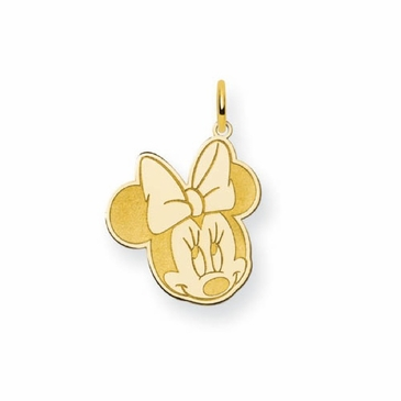 Gold-plated Disney Small Minnie Mouse Charm