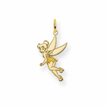 Gold-plated Disney Small Tinker Bell Charm