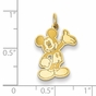 Gold-plated Disney Small Waving Mickey Mouse Charm - click to Enlarge