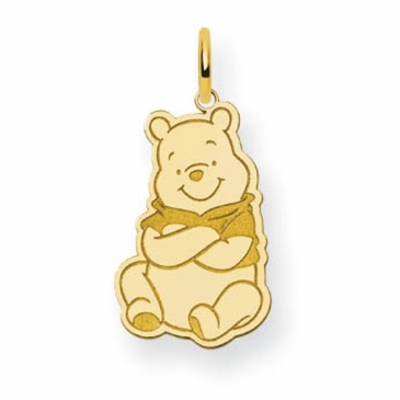 Gold-plated Disney Small Winnie the Pooh Charm