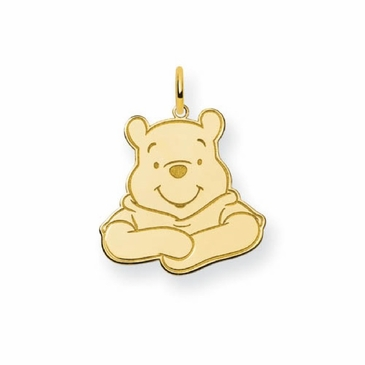 Gold-plated Disney Small Winnie the Pooh Portrait Charm