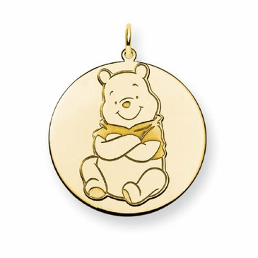 Gold-plated Disney Winnie the Pooh Solid Disc Charm