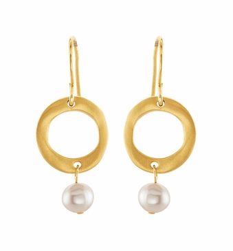 Gold-Plated Fashion Pearl Earrings