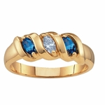 Gold Ribbon Birthstone Ring