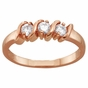 Gold Ribbon Style Family Ring - click to Enlarge