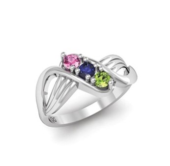 """Grace"" Family Birthstone Ring"