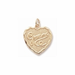 Grandma Solid Heart Charm by Forever Charms - Personalized