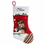 Green-and-Red Striped Toe Christmas Stockings - click to Enlarge
