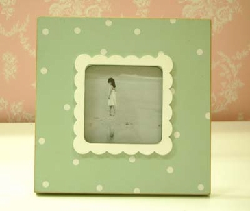 Green Polka Dot Picture Frame