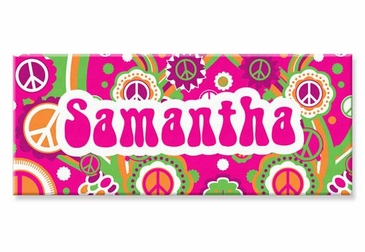 "Groovy Canvas Wall Art Personalized - 10"" x 24"""