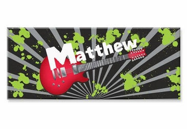 """Guitar Canvas Wall Art Personalized - 10"""" x 24"""""""