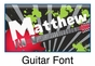"""Guitar Canvas Wall Art Personalized - 10"""" x 24"""" - click to Enlarge"""