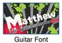 "Guitar Canvas Wall Art Personalized - 15"" x 15"" - click to Enlarge"