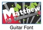 Guitar Oval Wall Plaque Personalized - click to Enlarge