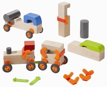 HABA Technics Basic Wooden Building Blocks