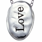 Hammered Oval Charm Necklace Personalized - click to Enlarge