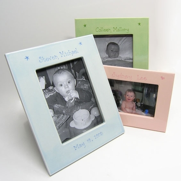 Hand Painted Personalized Baby Picture Frames