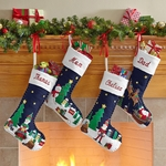 Hand Stitched and Beaded Christmas Stocking