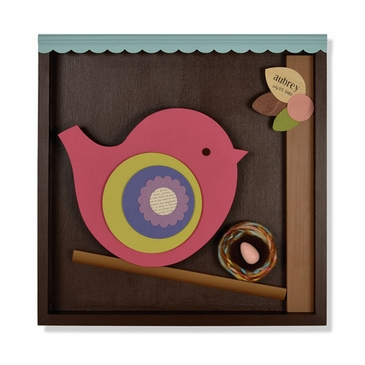 Handmade Bird and Nest Wooden Wall Art - Personalized