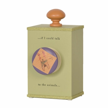"""Handmade """"If I Could Talk to the Animals"""" Lullaby Wooden Music Box"""