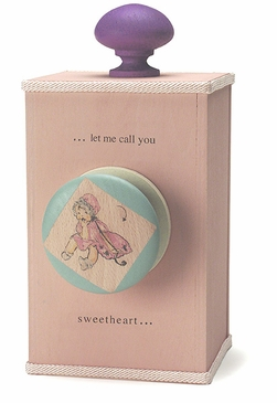 """Handmade """"Let Me Call You Sweetheart"""" Lullaby Wooden Music Box"""