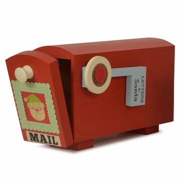 Handmade Personalized Santa Christmas Letter Wooden Mailbox